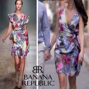 Banana Republic Silk Wrap Dress Small